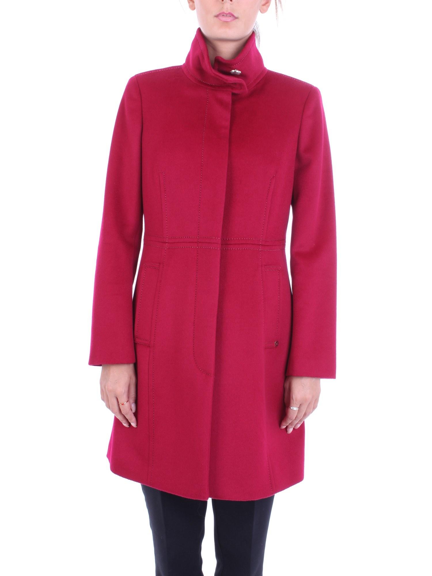 on sale 41036 4b63c Dettagli su PENNY BLACK Donna AGRARIA Rubino-01 Cappotto Autunno/Inverno  drap di pura lana