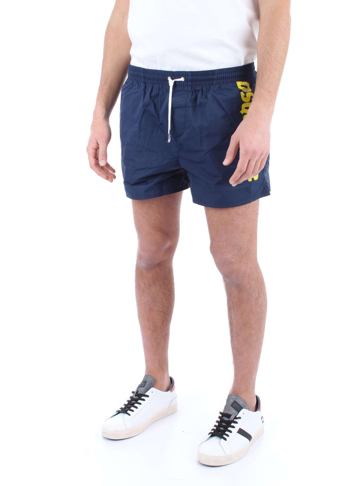 DSQUARED Costume da Bagno Uomo Boxer Corto D7B642640.330 Swim Shorts Blu