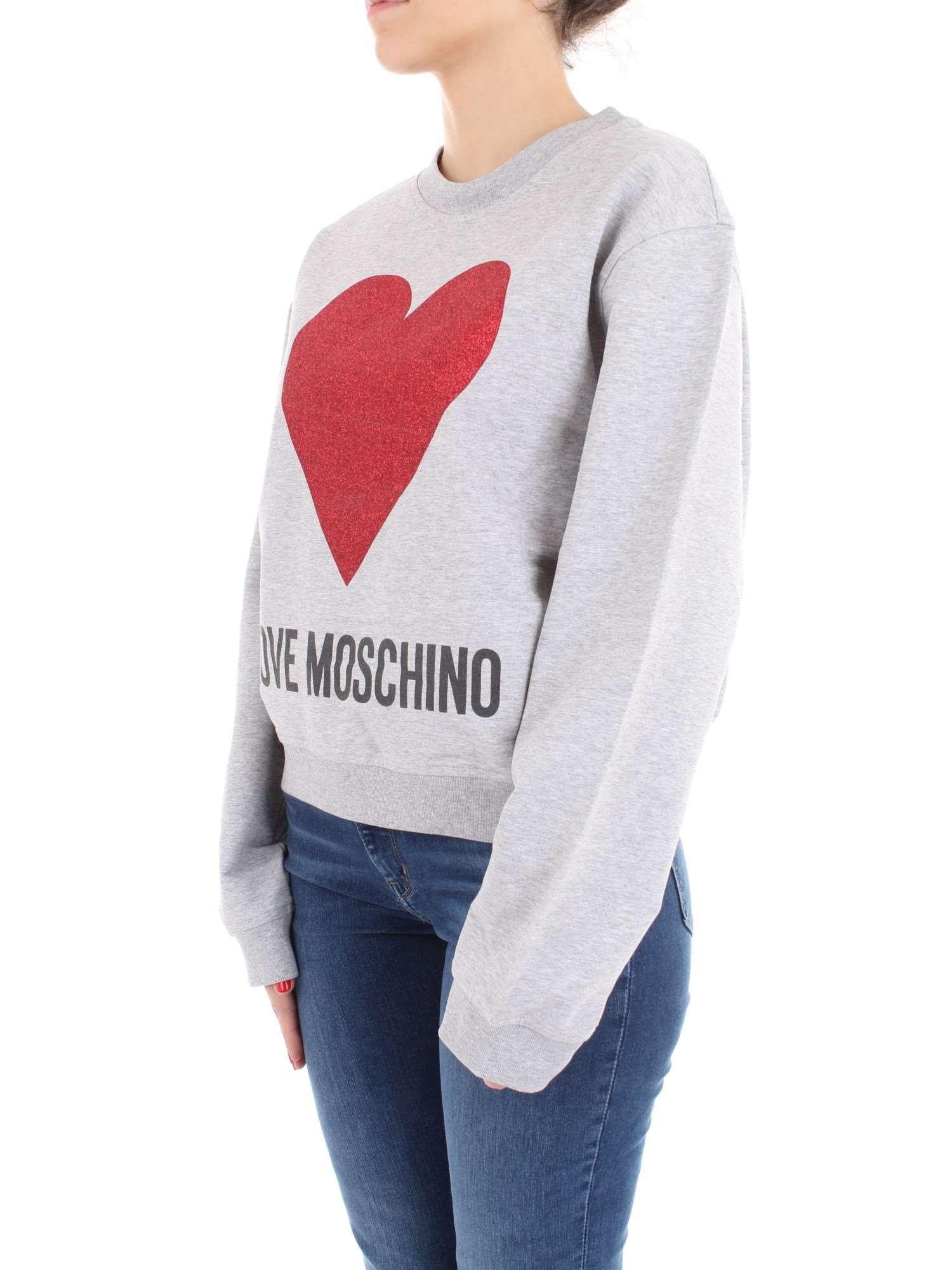 Moschino shirt W 306 a688 été E Gris 24 6 Sweat Printemps 2004 Love Femme TqdwHvtT