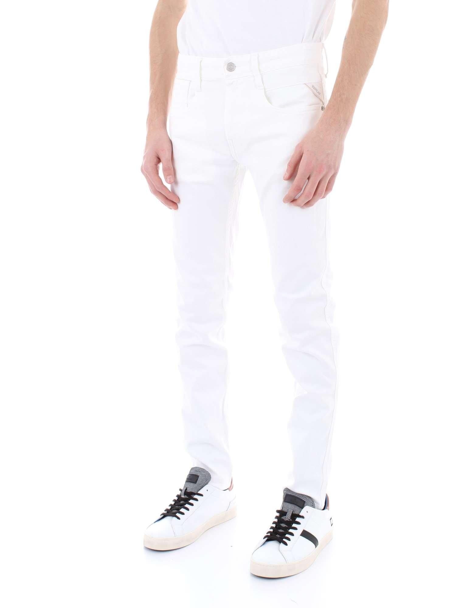 Homme Printemps M914d Jeans Replay 8005201 001 Blanc 8wBXqS