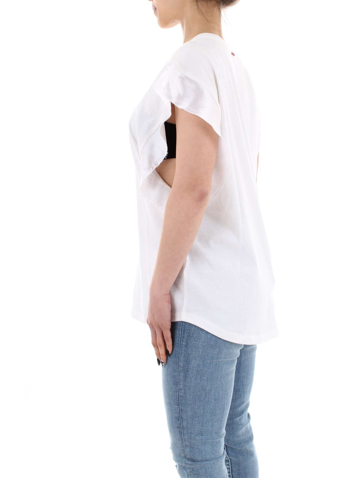 W3206 T Replay estate Primavera Bianca 22530p shirt 011 Donna 1wwHqd