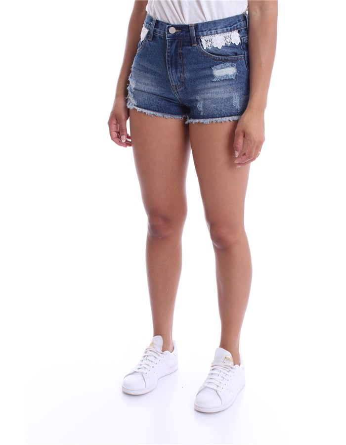 MOLLY BRACKEN Shorts Denim