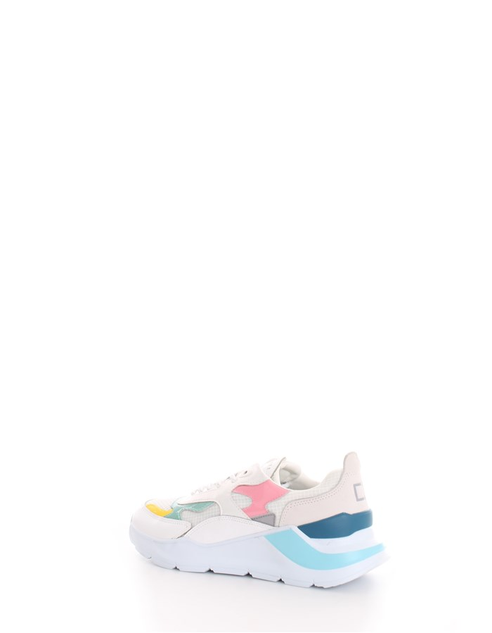 D.A.T.E. Trainers White pink green