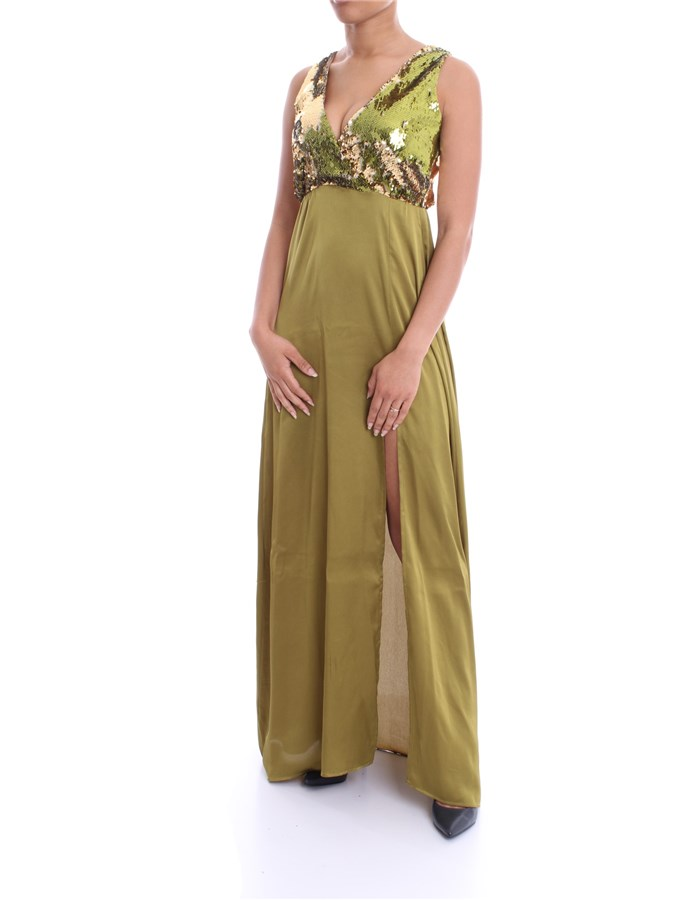 MADEMOISELLE DU MONDE Dress lime