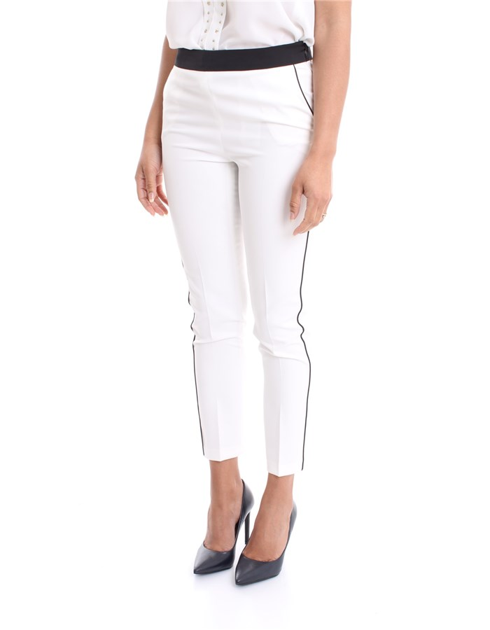 LIU JO Trousers White black