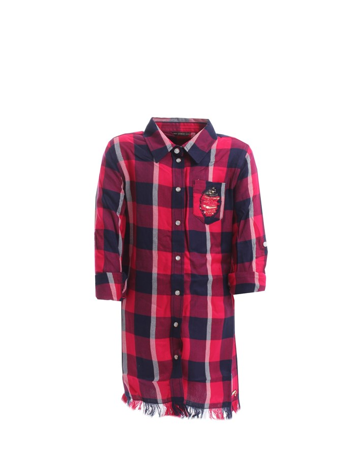 GUESS Caftans / Shirt Red Blue