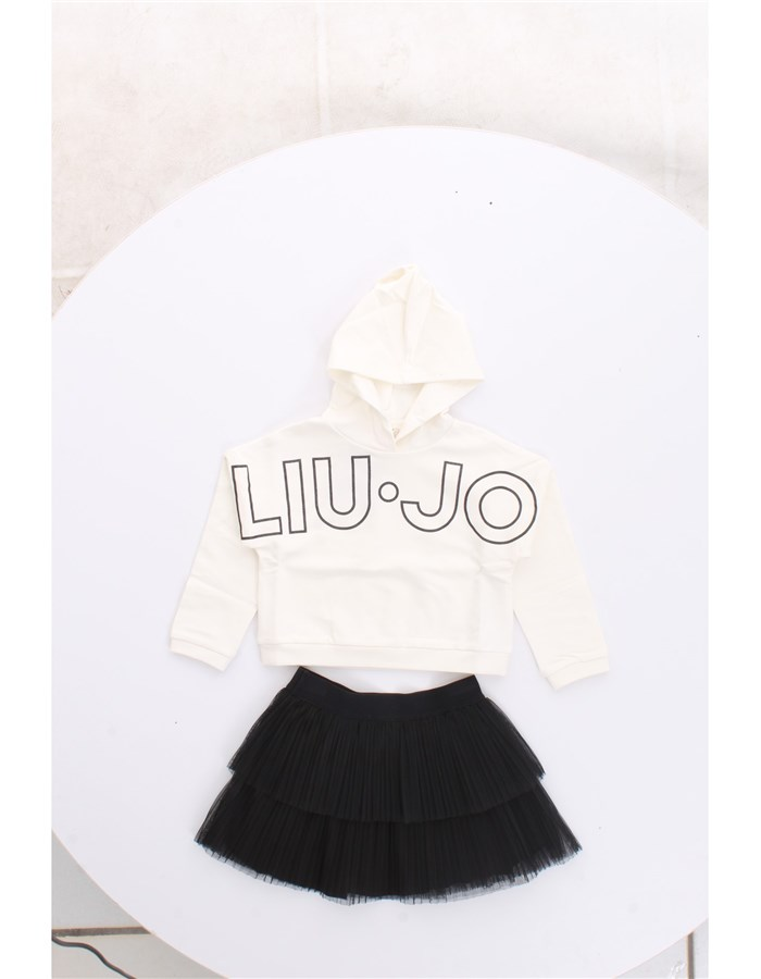 LIU JO Skirt + Sweatshirt Black