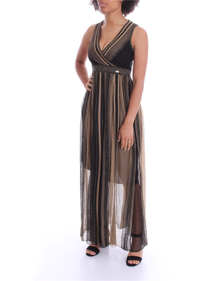 NENETTE Dress Black gold
