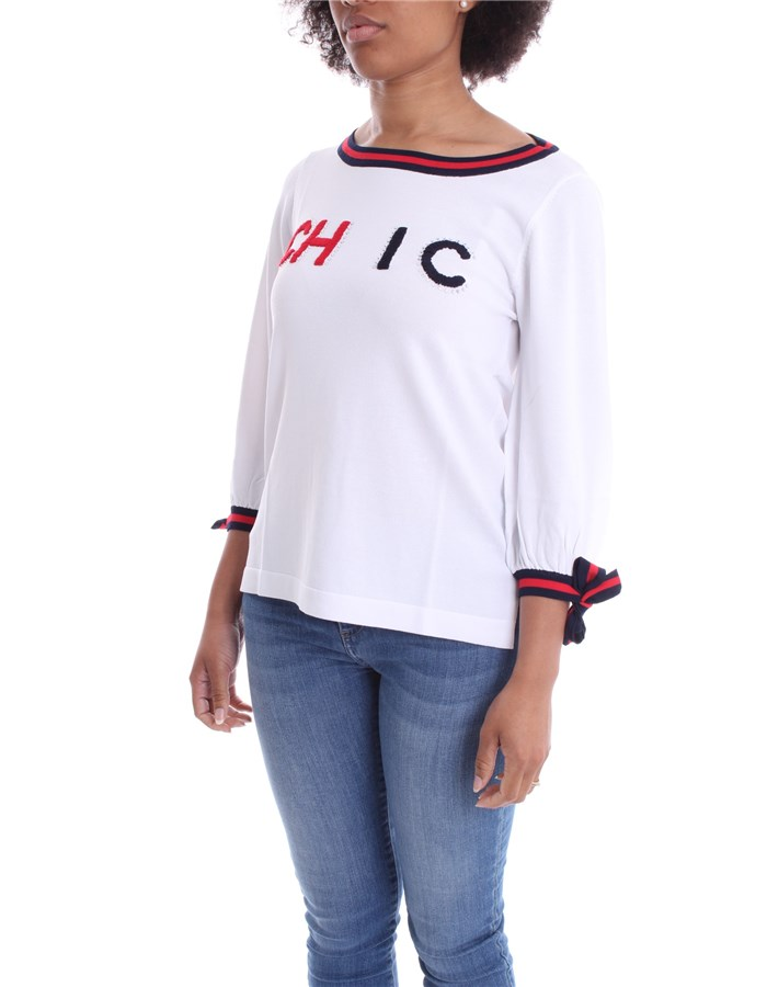 ZOE Sweater White Red