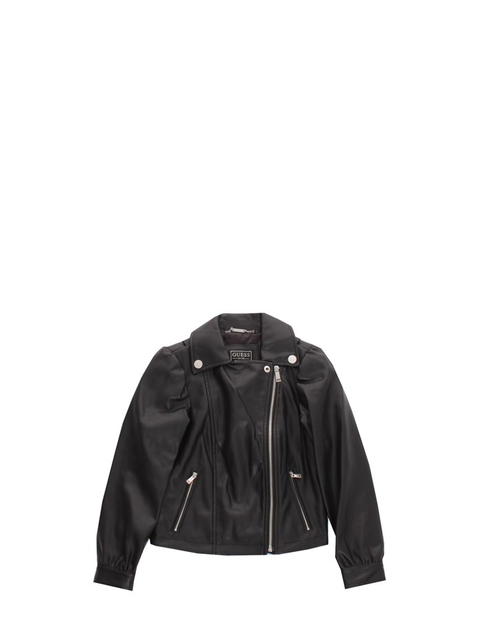 GUESS KIDS Leather jackets Black