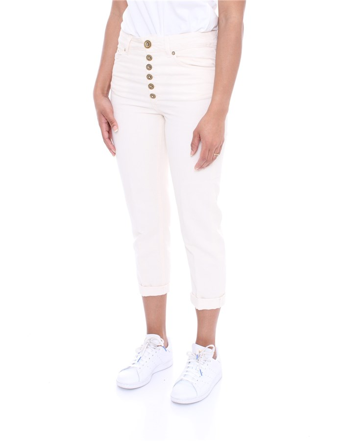DONDUP Trousers Cream
