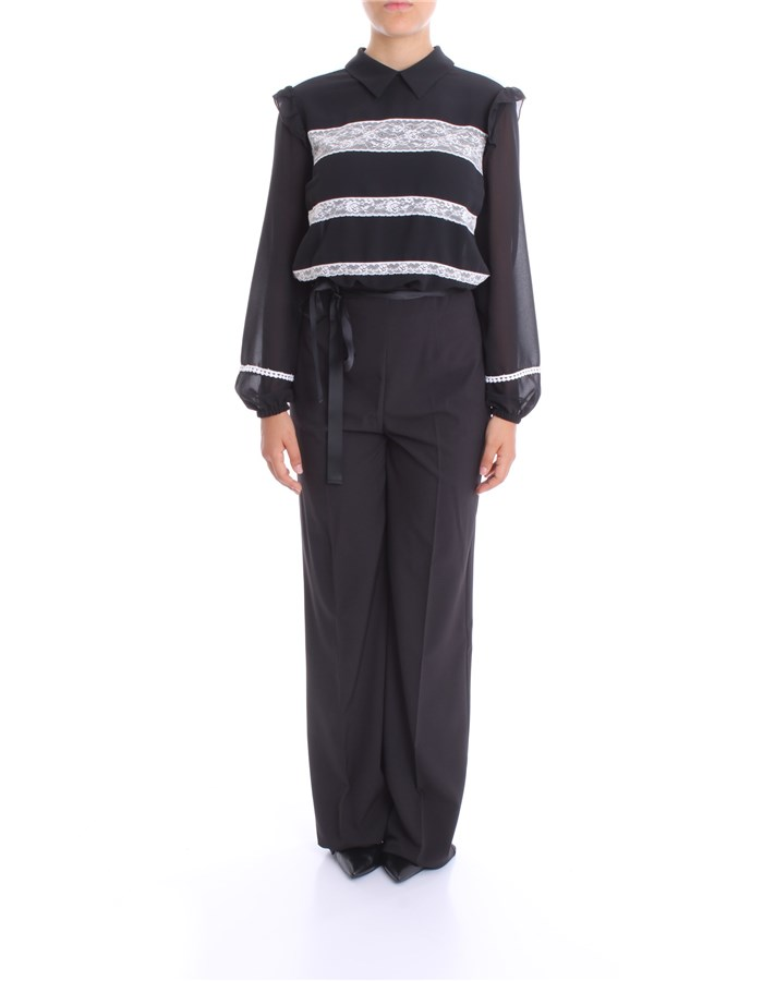 BLUMARINE Jumpsuit Black White