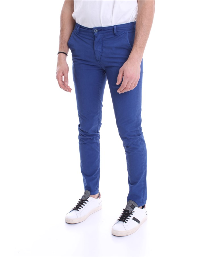 YAN SIMMONS Trousers Blue open