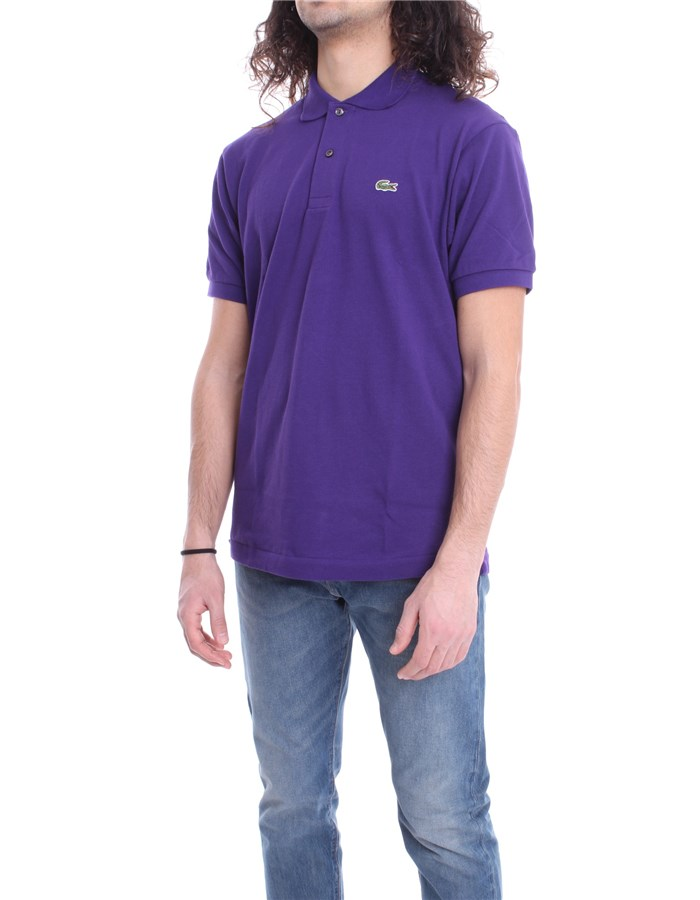 LACOSTE Polo shirt Purple Tanzanite