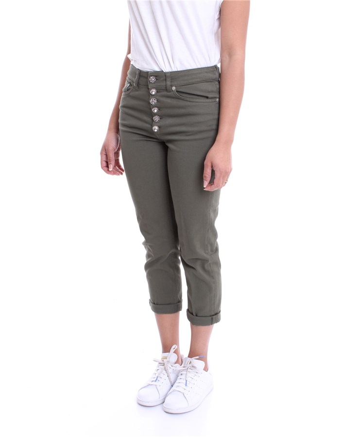 DONDUP Trousers Military green