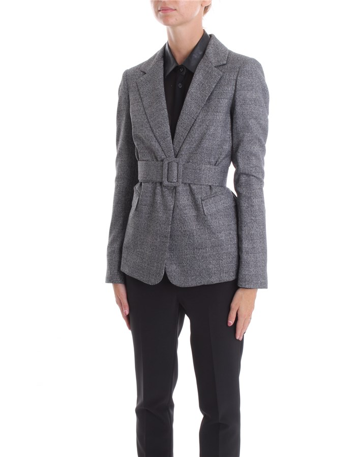 LIU JO Jacket Gray lurex check