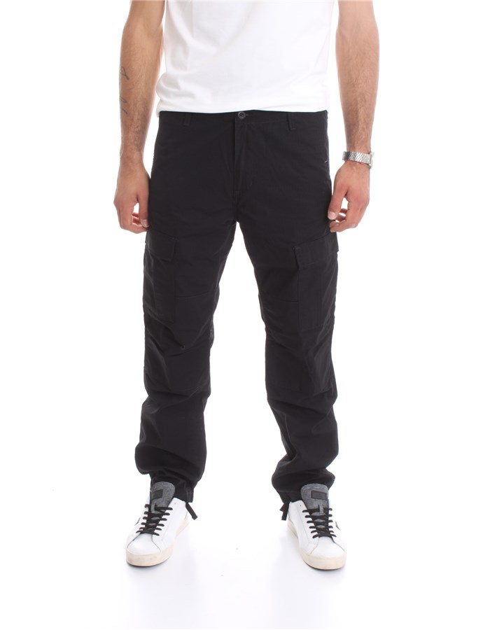 CARHARTT Trousers Cargo I009578 Black
