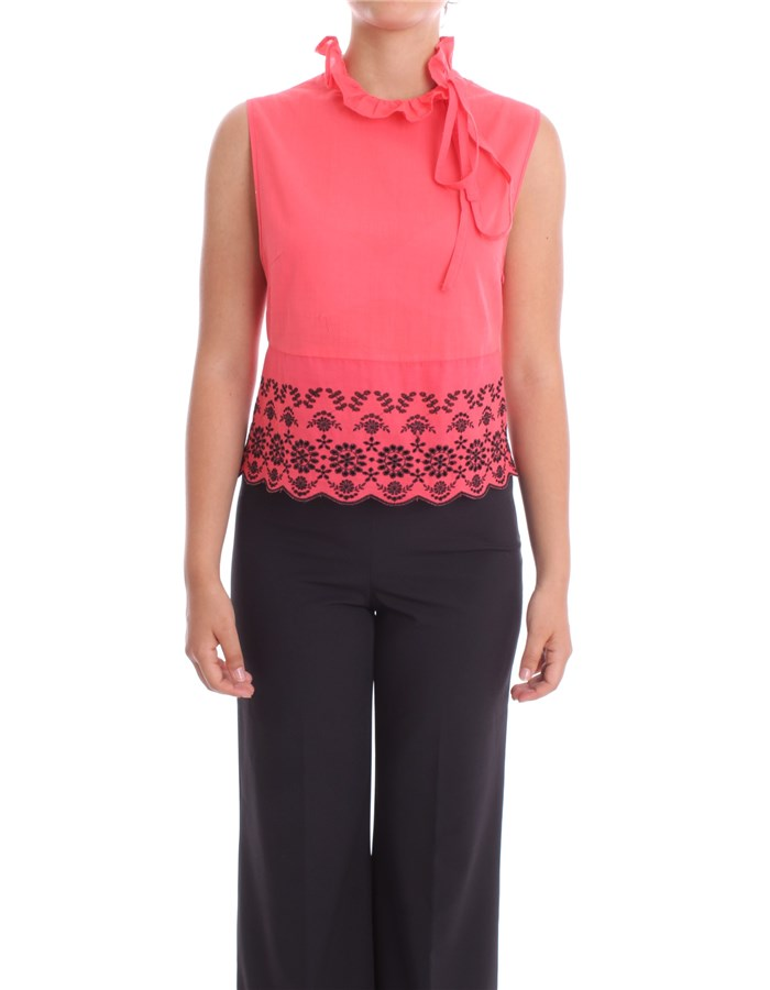 BLUMARINE Top Red-black