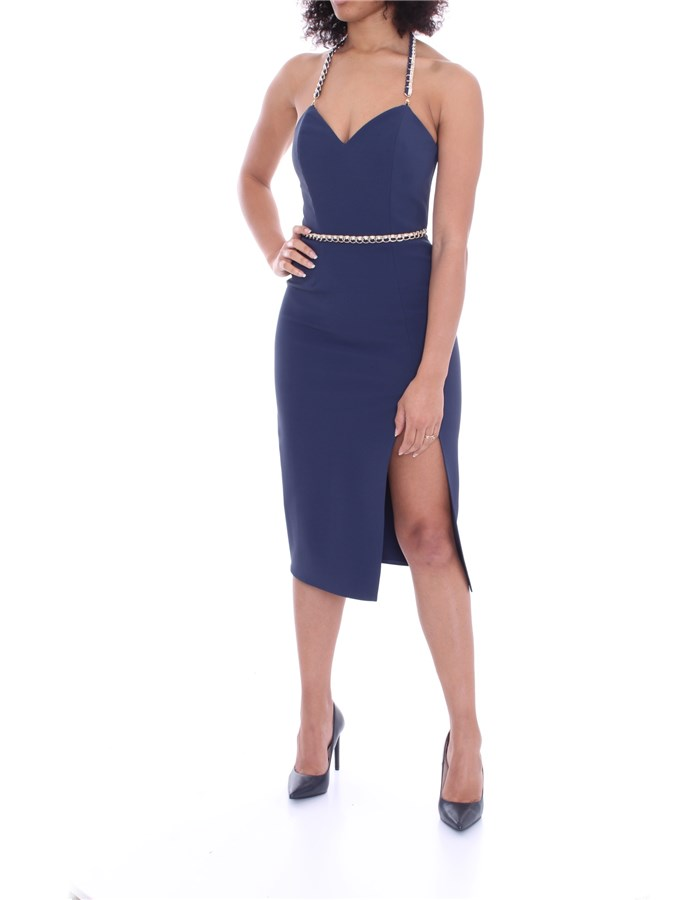 ELISABETTA FRANCHI Dress Navy blue