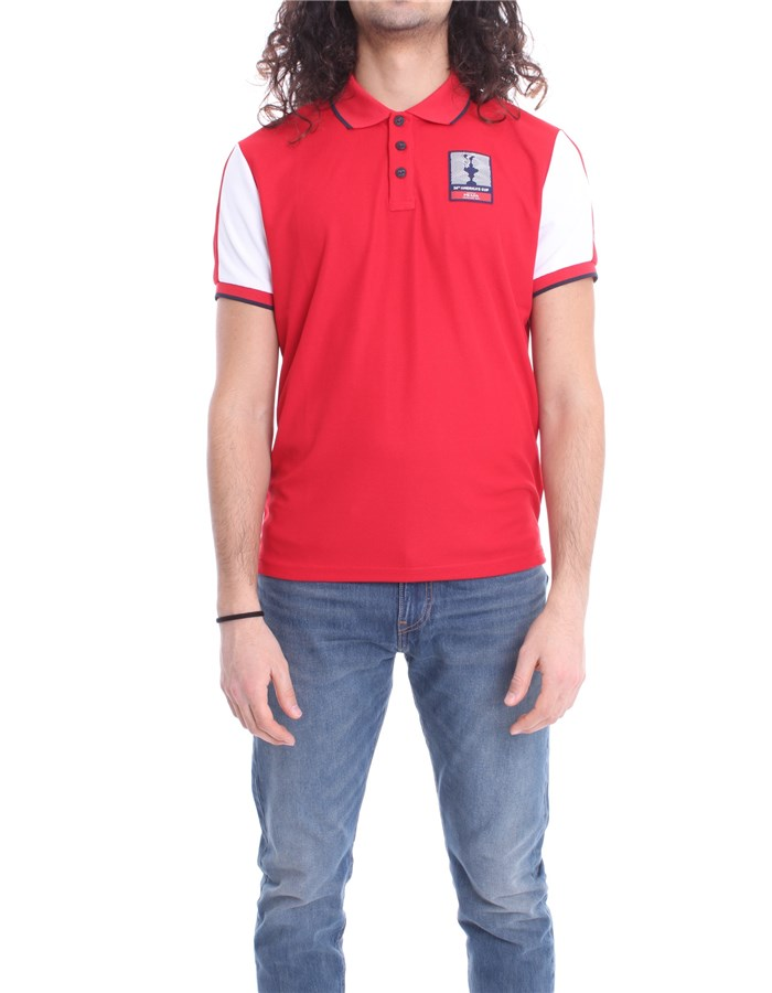 N.SAILS AMERICA'S CUP PRADA Polo Red