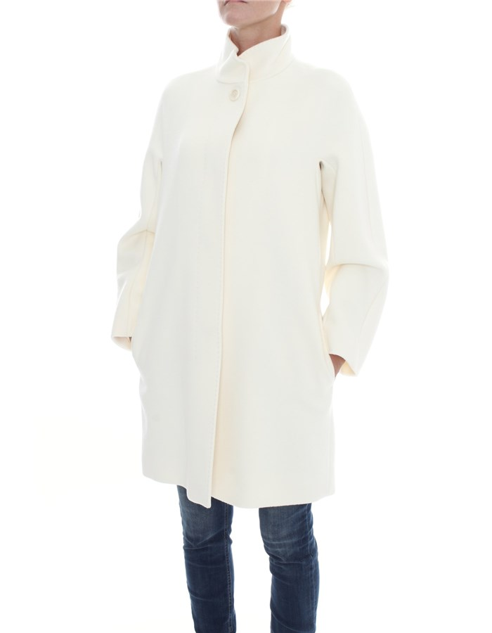 MAX MARA Long Wool white