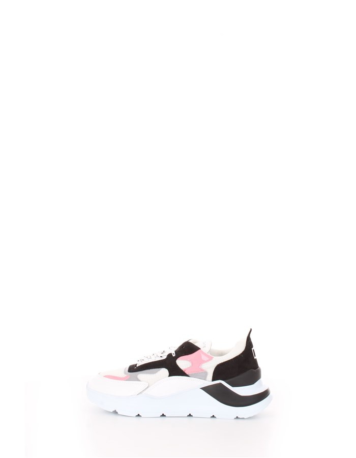 D.A.T.E. Trainers White pink black