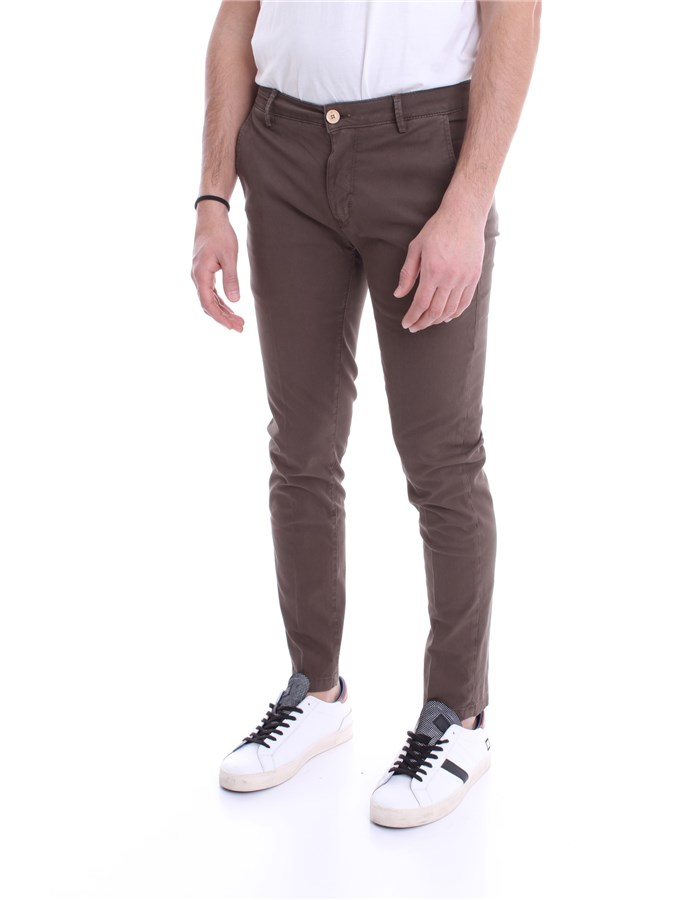 YAN SIMMONS Trousers Brown