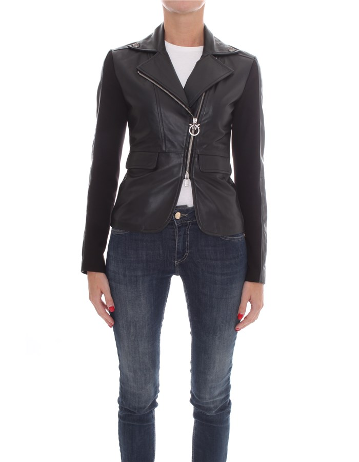 PINKO Jackets Leather jackets Women 1G1514-Y5N8 0