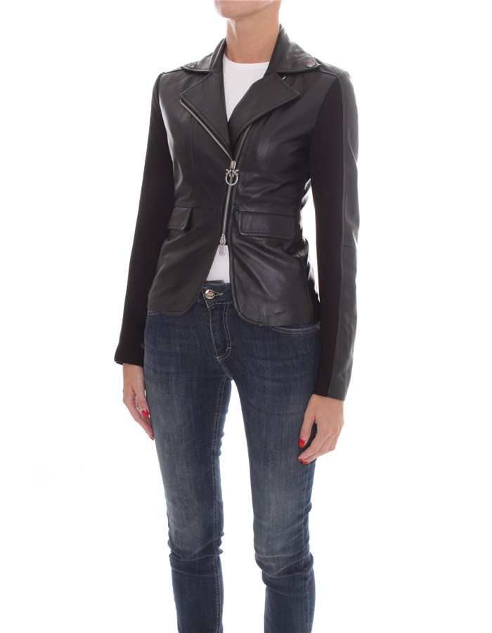 PINKO Jackets Leather jackets Women 1G1514-Y5N8 1