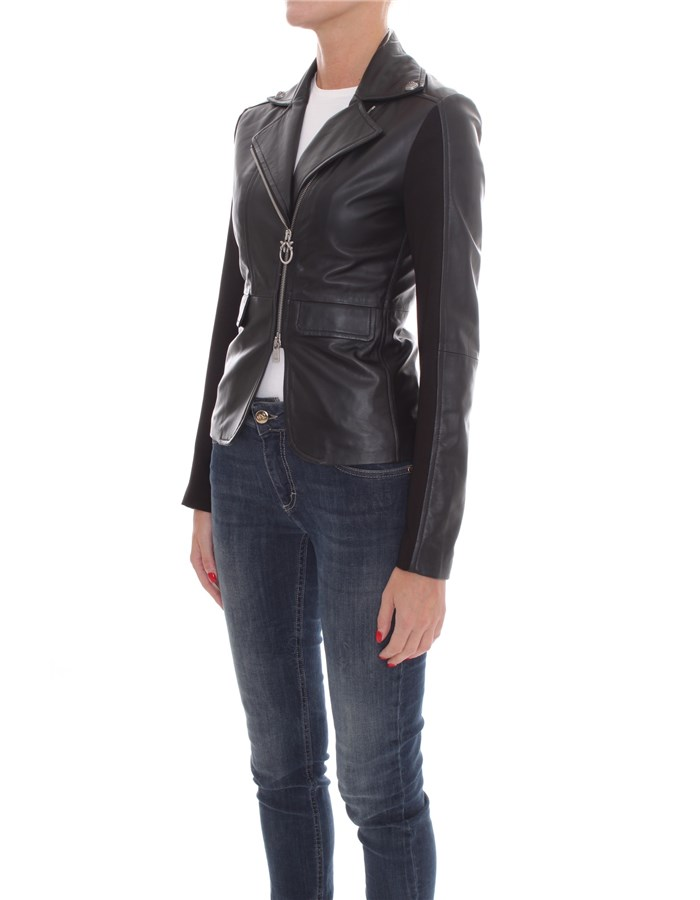 PINKO Jackets Leather jackets Women 1G1514-Y5N8 2