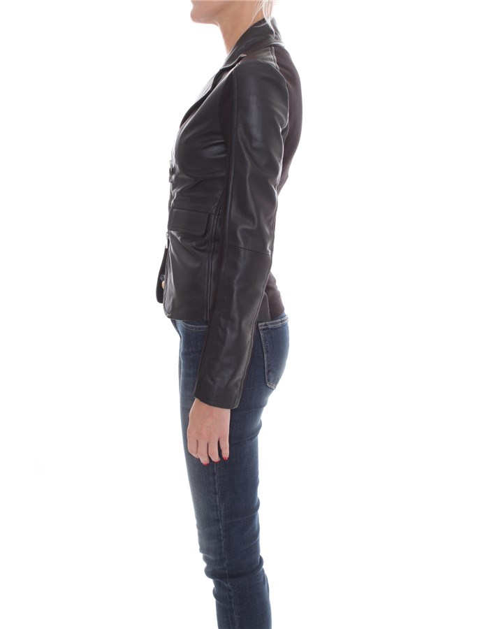 PINKO Jackets Leather jackets Women 1G1514-Y5N8 3