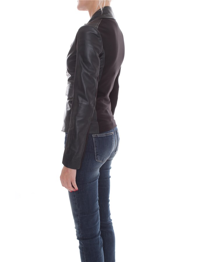 PINKO Jackets Leather jackets Women 1G1514-Y5N8 4