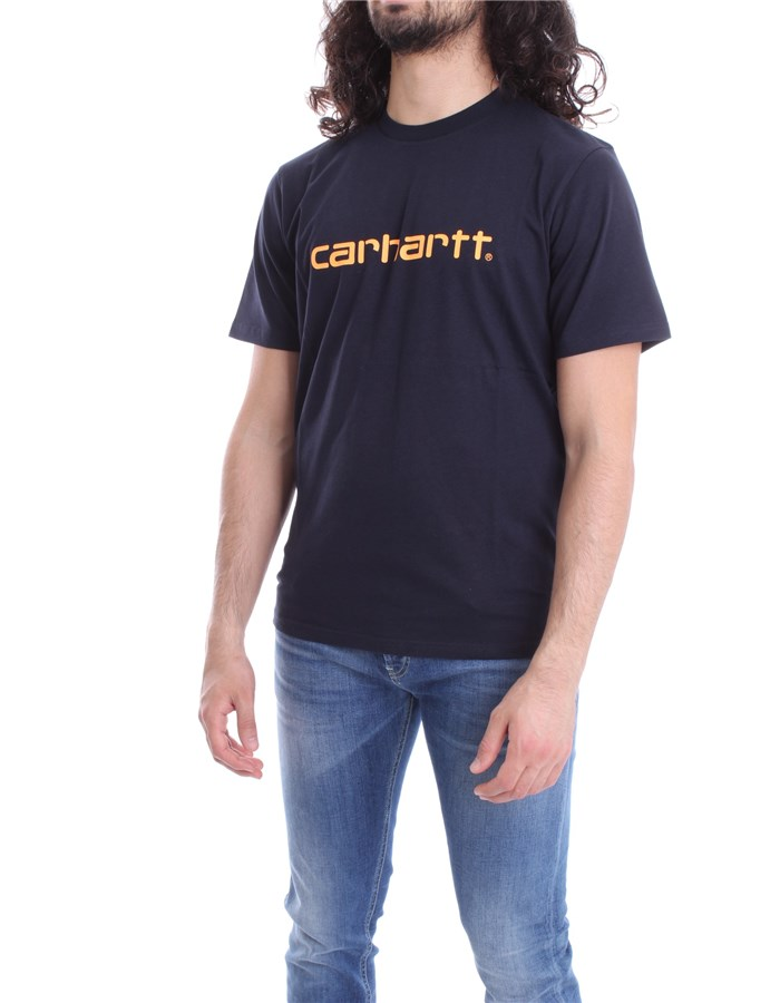 CARHARTT T-SHIRT Blue orange