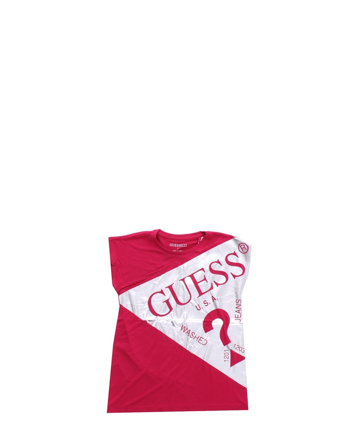 GUESS T-shirt Short sleeve J0YI13KA6S0 Cherry