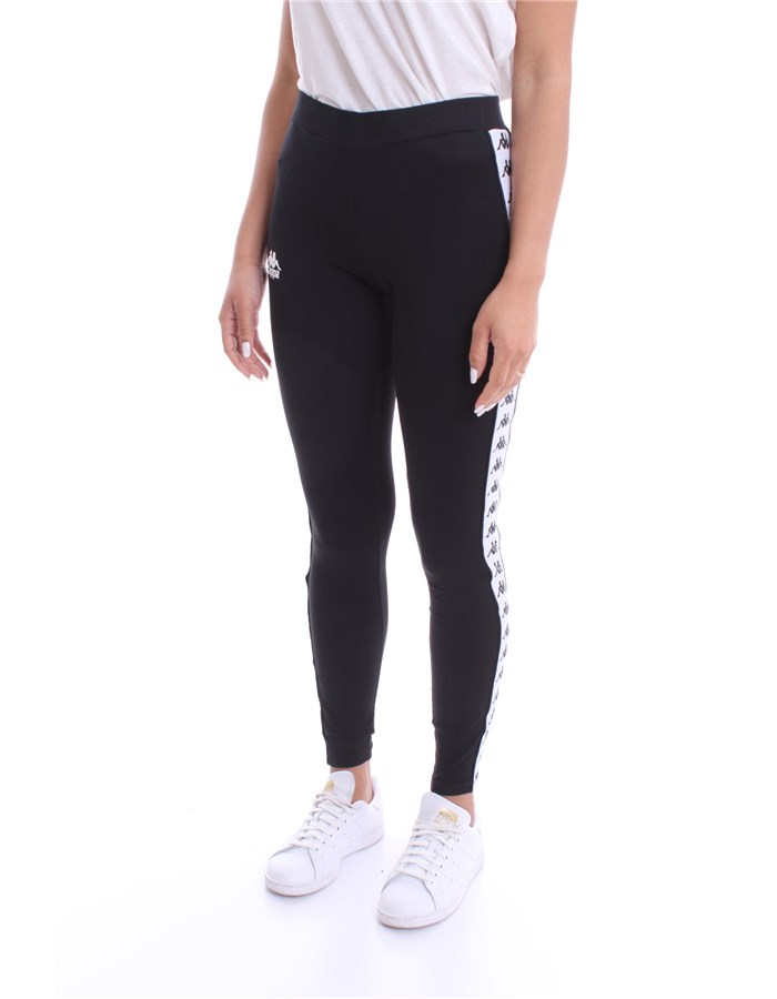 KAPPA Leggings Black White