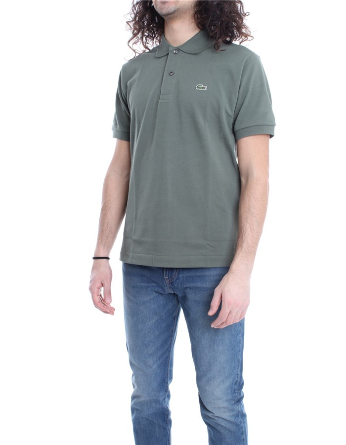 LACOSTE Polo shirt Military green
