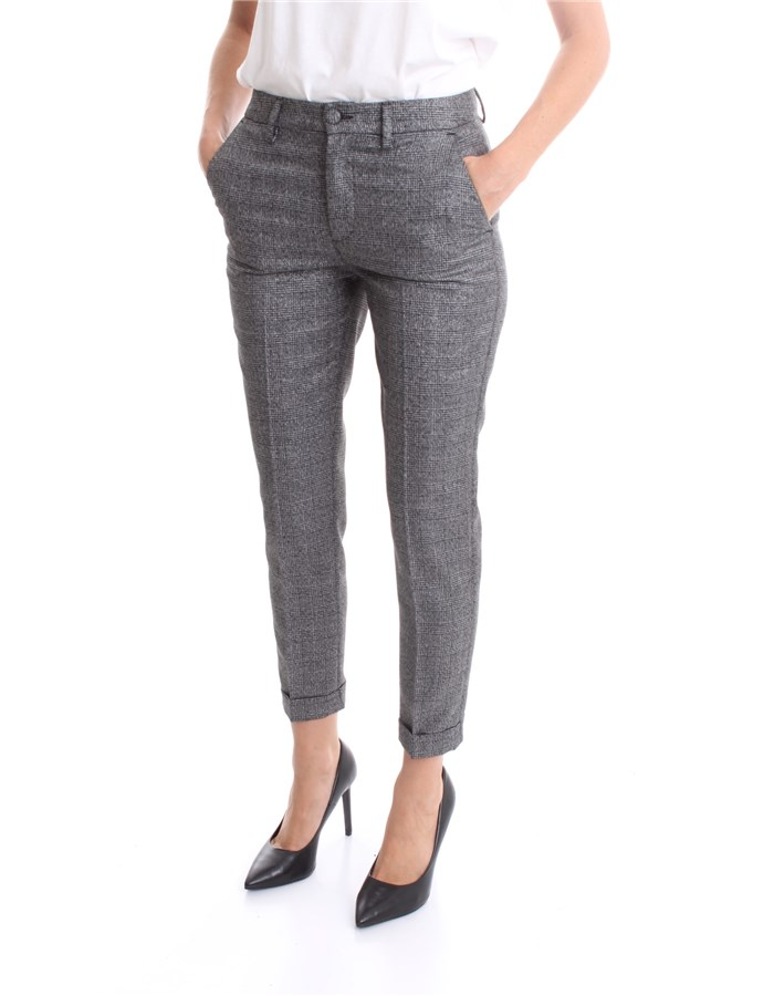 LIU JO Trouser Gray lurex check