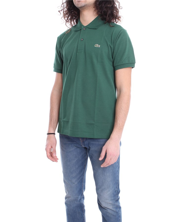 LACOSTE Polo shirt English green