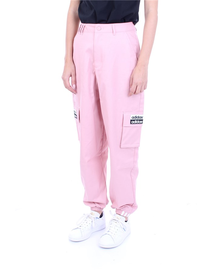 ADIDAS Trousers Rose