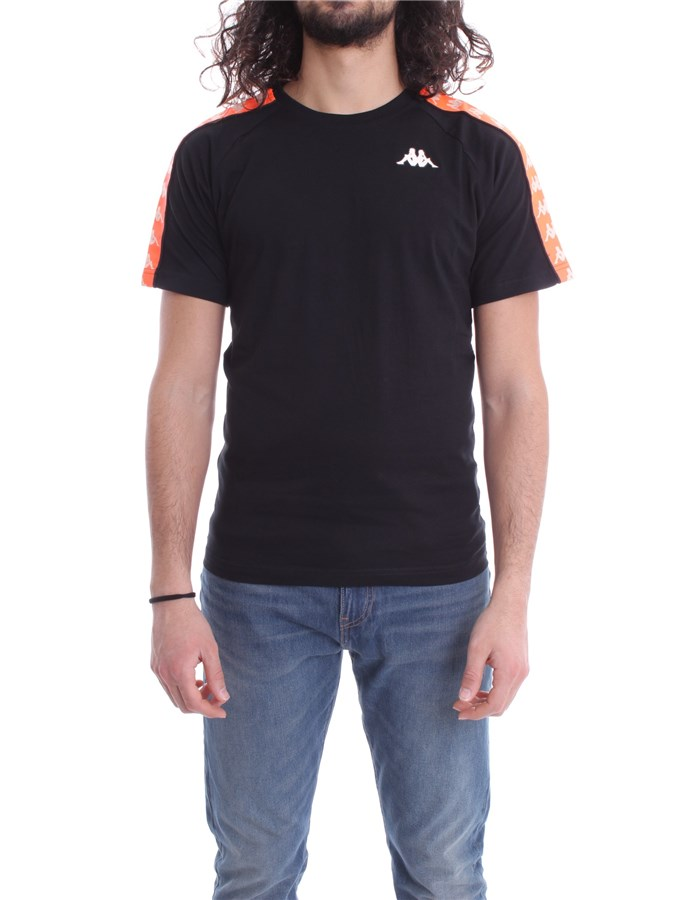 KAPPA T-shirt Orange black