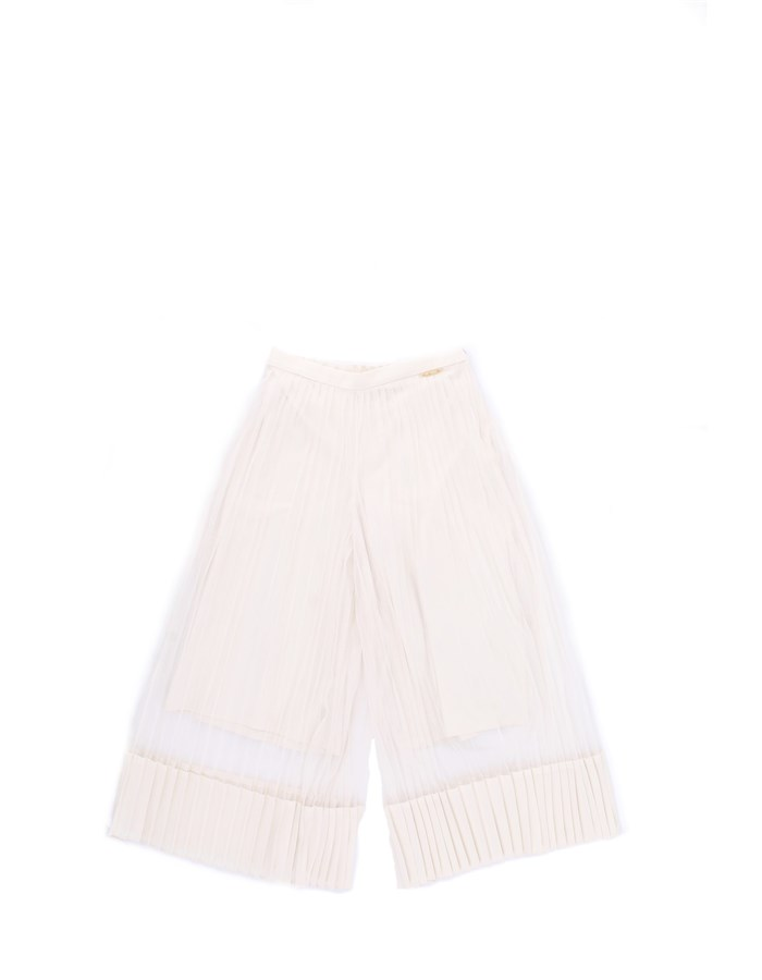 TWIN SET Pants Cream