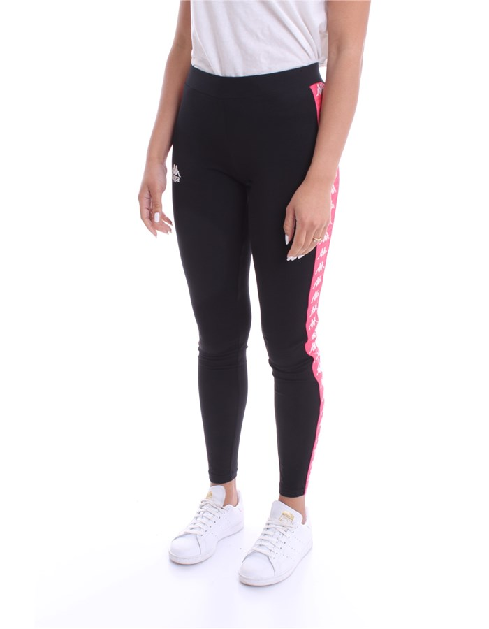KAPPA Leggings Strawberry black