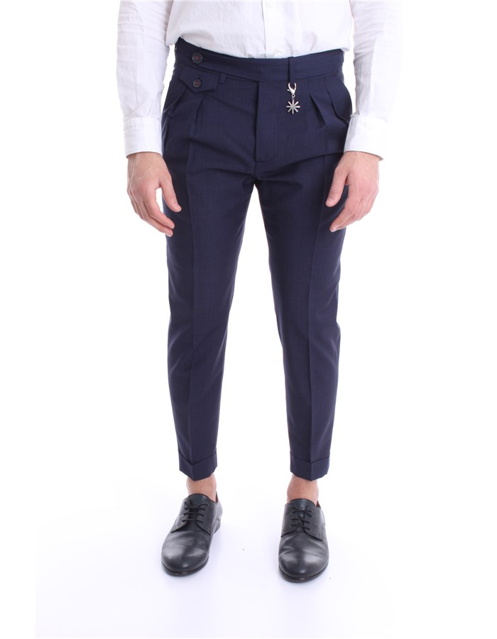 MANUEL RITZ Pants Blue