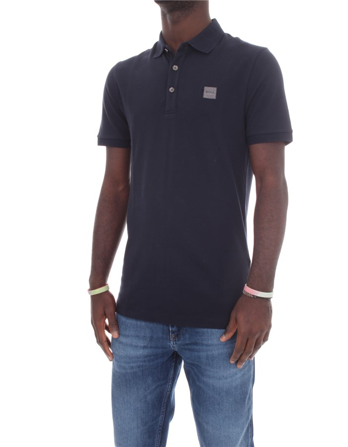 BOSS Short sleeves Dark blue