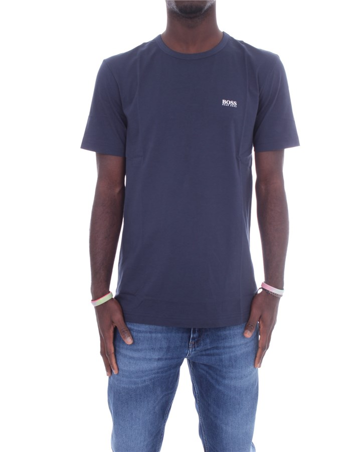 BOSS Short sleeve Navy blue