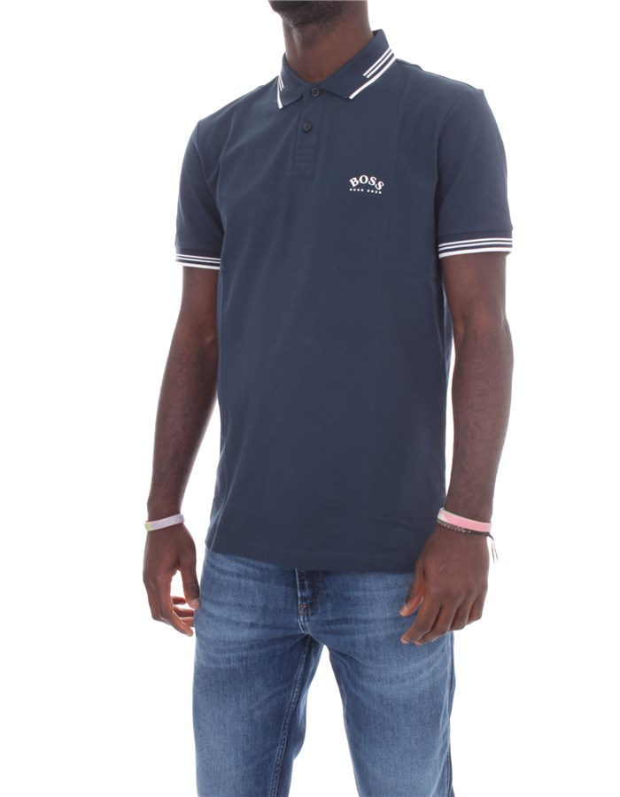 BOSS Short sleeves Medium blue