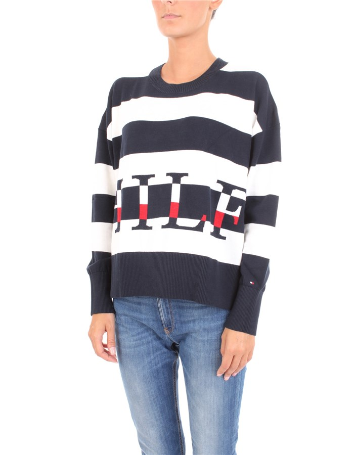 TOMMY HILFIGER Sweater Blue white