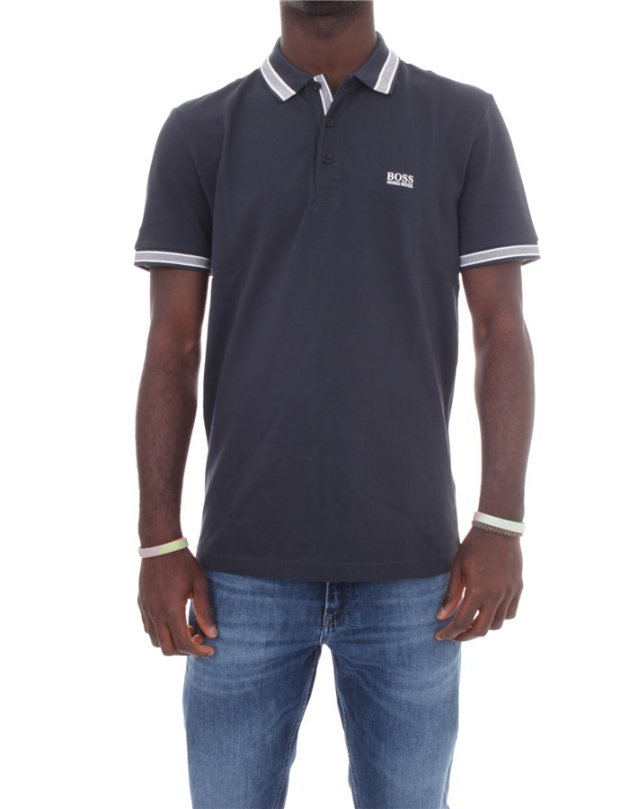 BOSS Short sleeves Navy blue