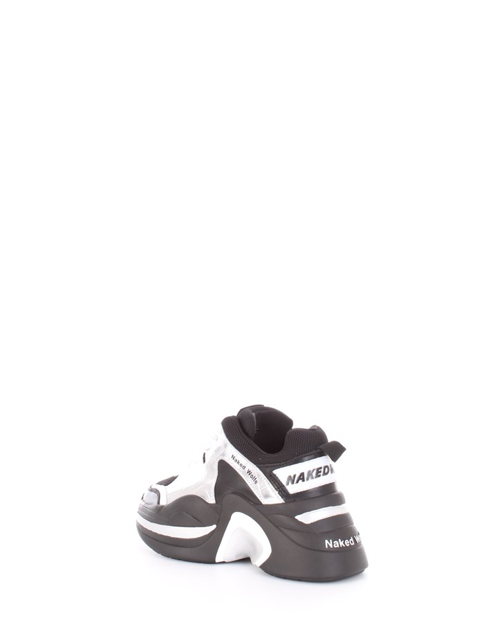 NAKED WOLFE Sneakers Black silver