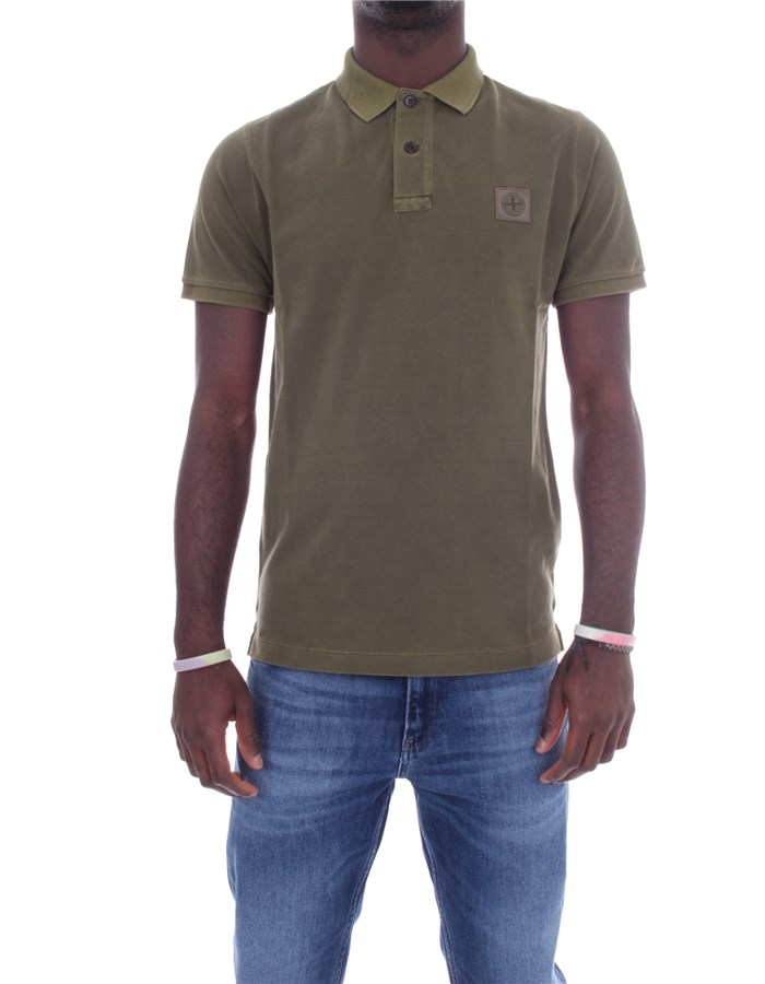 STONE ISLAND Polo shirt Short sleeves 741522S67 Military